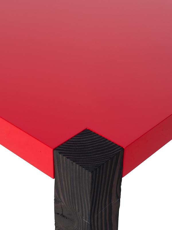tafelblad paard rood